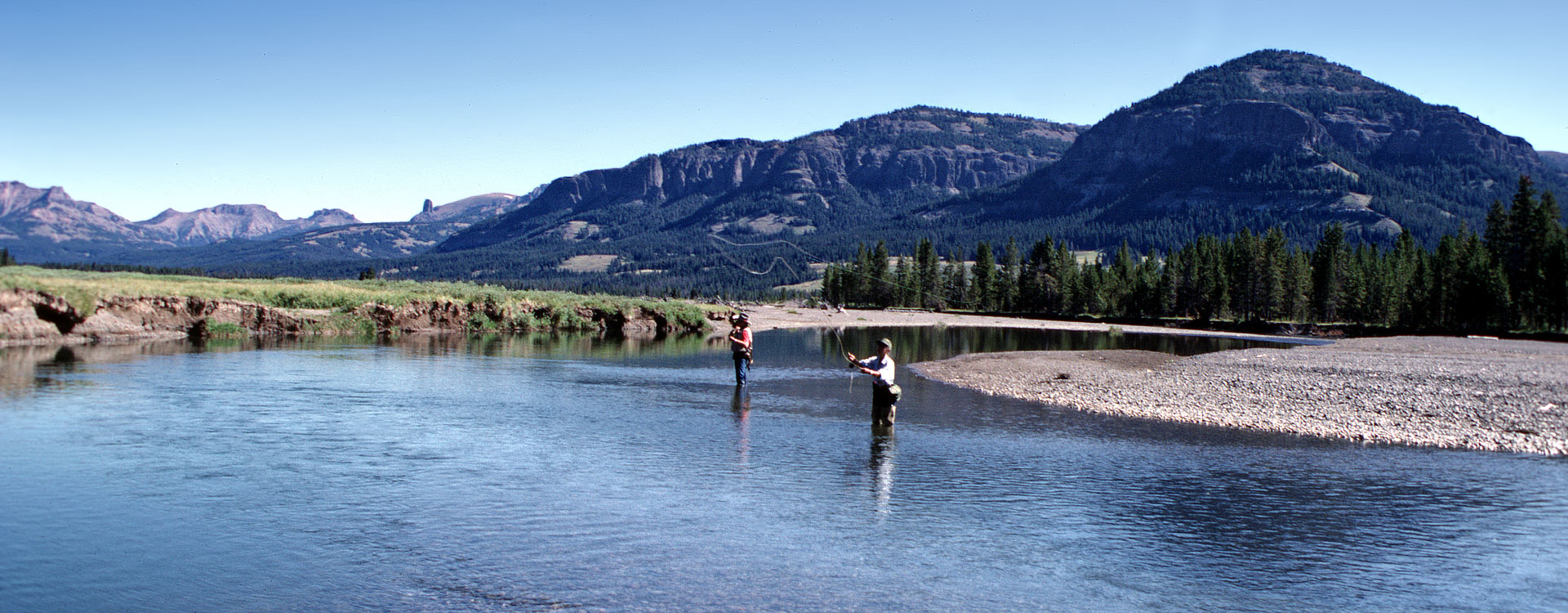 Fly fishing in Yellowstone.